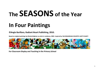 THE SEASONS OF THE YEAR in FOUR PAINTINGS FOR  TEACHING AND DISPLAY