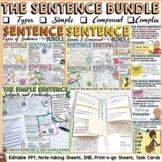 SENTENCE STRUCTURE BUNDLE: SIMPLE, COMPOUND, COMPLEX; TYPES OF SENTENCES