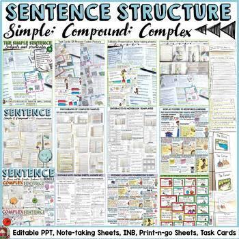 SENTENCE STRUCTURE: SIMPLE, COMPOUND, COMPLEX BUNDLE