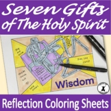 GIFTS OF THE HOLY SPIRIT Reflection Coloring Sheets