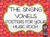 CHORUS / CHOIR / CHORAL SINGING VOWELS POSTERS FOR VOCAL MUSIC OR CHORUS ROOM