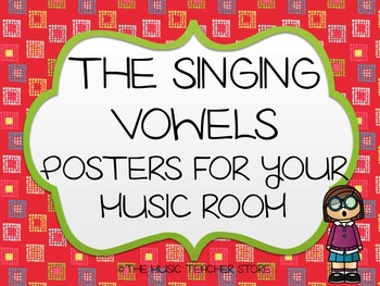 CHORUS / CHOIR / CHORAL SINGING VOWELS POSTERS FOR VOCAL M