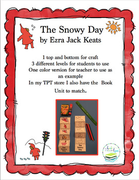 THE SNOWY DAY  SEQUENCE CRAFT