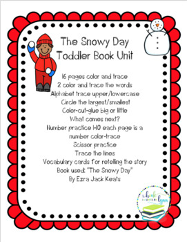 THE SNOWY DAY  TODDLER BOOK UNIT