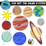 THE SOLAR SYSTEM CLIP ART: 22 PNG IMAGES- COLOR AND BW