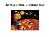 THE SOLAR SYSTEM ENGLISH-SPANISH
