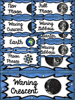 THE SOLAR SYSTEM: PLANETS AND PHASES OF THE MOON BUNDLE