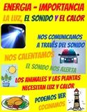 ENERGY IMPORTANCE - Journal Foldable, Center, Sort Activities - SPANISH