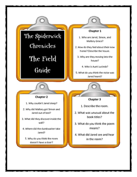 THE SPIDERWICK CHRONICLES - Discussion Card Bundle