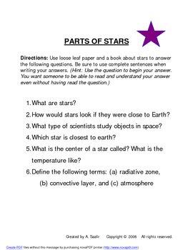THE STARS (HANDOUTS)