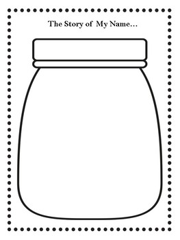 THE STORY OF MY NAME ACTIVITY....THE NAME JAR