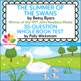 THE SUMMER OF THE SWANS | PRINTABLE WHOLE BOOK TEST | 35 Q