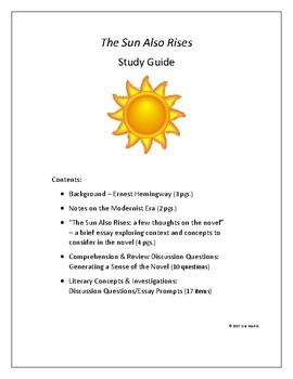 THE SUN ALSO RISES Study Guide