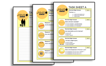 THE SUN PACK ( presentation + worksheets )