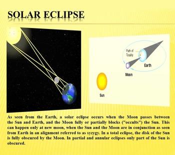 Sun - Solar eclipse - Science - PowerPoint presentation - Astronomy