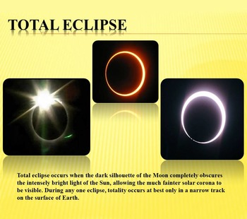 Sun Solar eclipse Science PowerPoint presentation Astronomy distance learning