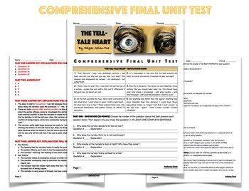 The Tell-Tale Heart COMPLETE UNIT PLAN - 13 PAGES