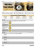 The Tell-Tale Heart Vocabulary Attainment Activities