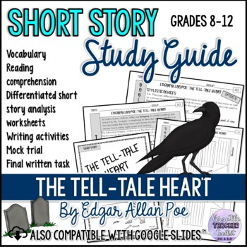 THE TELL-TALE HEART by Edegar Allan Poe - Short Story (Literature Unit Pack)