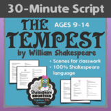 NEW! THE TEMPEST - 30-Minute Script or Scenes for Elementary and Middle School