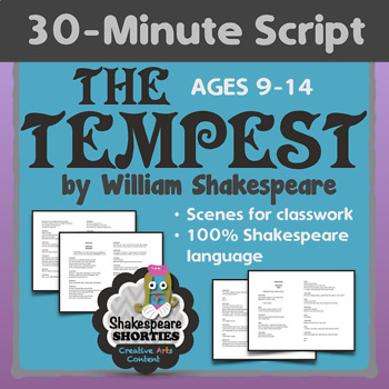 THE TEMPEST - 30-Minute Script or Scenes for Elementary and Middle School
