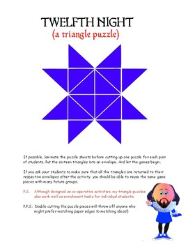 TWELFTH NIGHT (A triangle puzzle)
