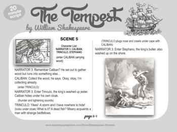 THE TEMPEST Scripts with Illustrations