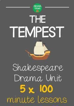 THE TEMPEST Shakespeare Drama Unit (5 x 100 min drama less