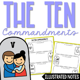 THE TEN COMMANDMENTS Illustrated Notes | Christian Activity | Religious Project