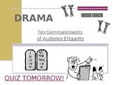 THE TEN COMMANDMENTS OF AUDIENCE ETIQUETTE PPT PRESENT - DRAMA