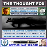 THE THOUGHT FOX BY TED HUGHES - 15 WORKSHEETS WITH ANSWERS