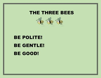 THE THREE BEES CLASSROOM SIGN