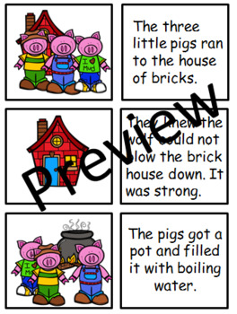 THE THREE LITTLE PIGS SEQUENCING CARDS