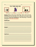 THE THREE WISE MEN : A  CONVERSATIONAL MINI-PLAY: CREATIVE WRITING