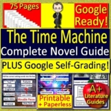 The Time Machine Novel Study Print AND Paperless Google Ready w/ Self-Grading