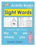Sight Word Activity Booklets (Pre-Primer Pack #4)