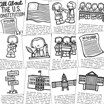 THE U.S. CONSTITUTION Posters | Coloring Book Pages | American ... | 350x350