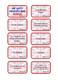 THE UK'S QUIZ ANSWER CARDS