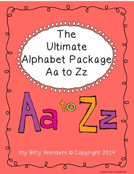 Alphabet - THE ULTIMATE ALPHABET CVC PACKAGE FROM Aa to Zz