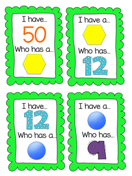 """THE ULTIMATE """"I Have...Who Has"""" Kindergarten Math Edition. BOOM!"""