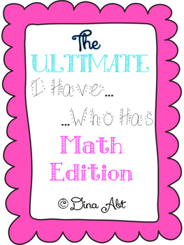 "THE ULTIMATE ""I Have...Who Has"" Kindergarten Math Edition. BOOM!"