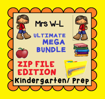 THE ULTIMATE KINDERGARTEN SMART NOTEBOOK AND UNIT OF WORK MEGA BUNDLE