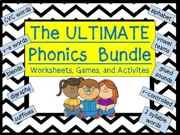 PHONICS ULTIMATE BUNDLE: 19 Packets of activities, games, and printables!
