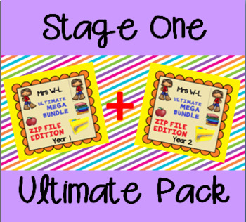 THE ULTIMATE STAGE 1 SMART NOTEBOOK AND UNIT OF WORK PACK