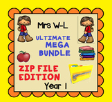 THE ULTIMATE YEAR 1 SMART NOTEBOOK AND UNIT OF WORK MEGA BUNDLE