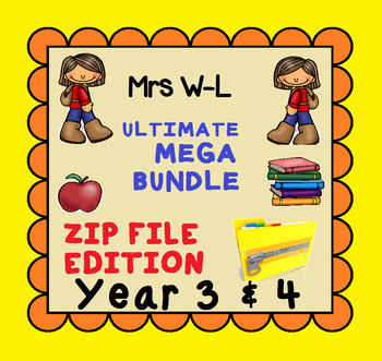 THE ULTIMATE YEAR 3 & 4 SMART NOTEBOOK AND UNIT OF WORK MEGA BUNDLE