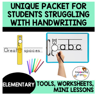 THE UNIQUE PACKET FOR STRUGGLING HANDWRITERS k12345