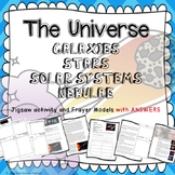 ASTRONOMY/SPACE JIGSAW ACTIVITY WORKSHEETS Stars galaxies