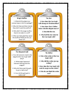 THE VAN GOGH CAFE Cynthia Rylant - Discussion Cards