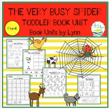 THE VERY BUSY SPIDER TODDLE BOOK UNIT